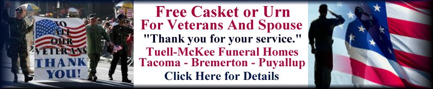 Free casker or urn for veterans and spouses Tacoma Bremerton Puyallup - image